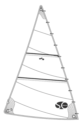 Génois sur mousquetons SO wide pour ALLIED SEAWIND KETCH