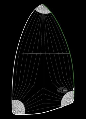 Spi asymétrique léger pour ALBIN 8.2 MOTORSEJLER