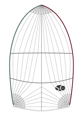 Spi symétrique croisière pour ALBIN 57